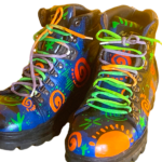 Live Yummy paints shoes and hiking boots to add fun and color