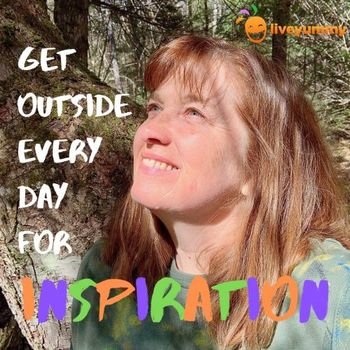Get outside every day for inspiration