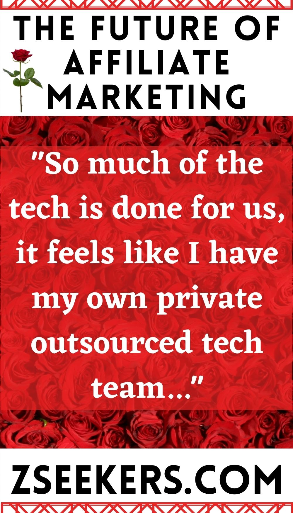 the future of affiliate marketing is here: in our group, so much of the tech is one for us, it feels like i have my own private outsourced tech team...