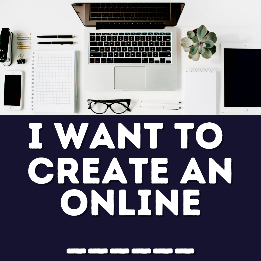 Do you want to create an online course, training, or ebook? Start blogging, create a podcast, start with video? Click here for more info